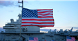 United States flag at USS Yorktown