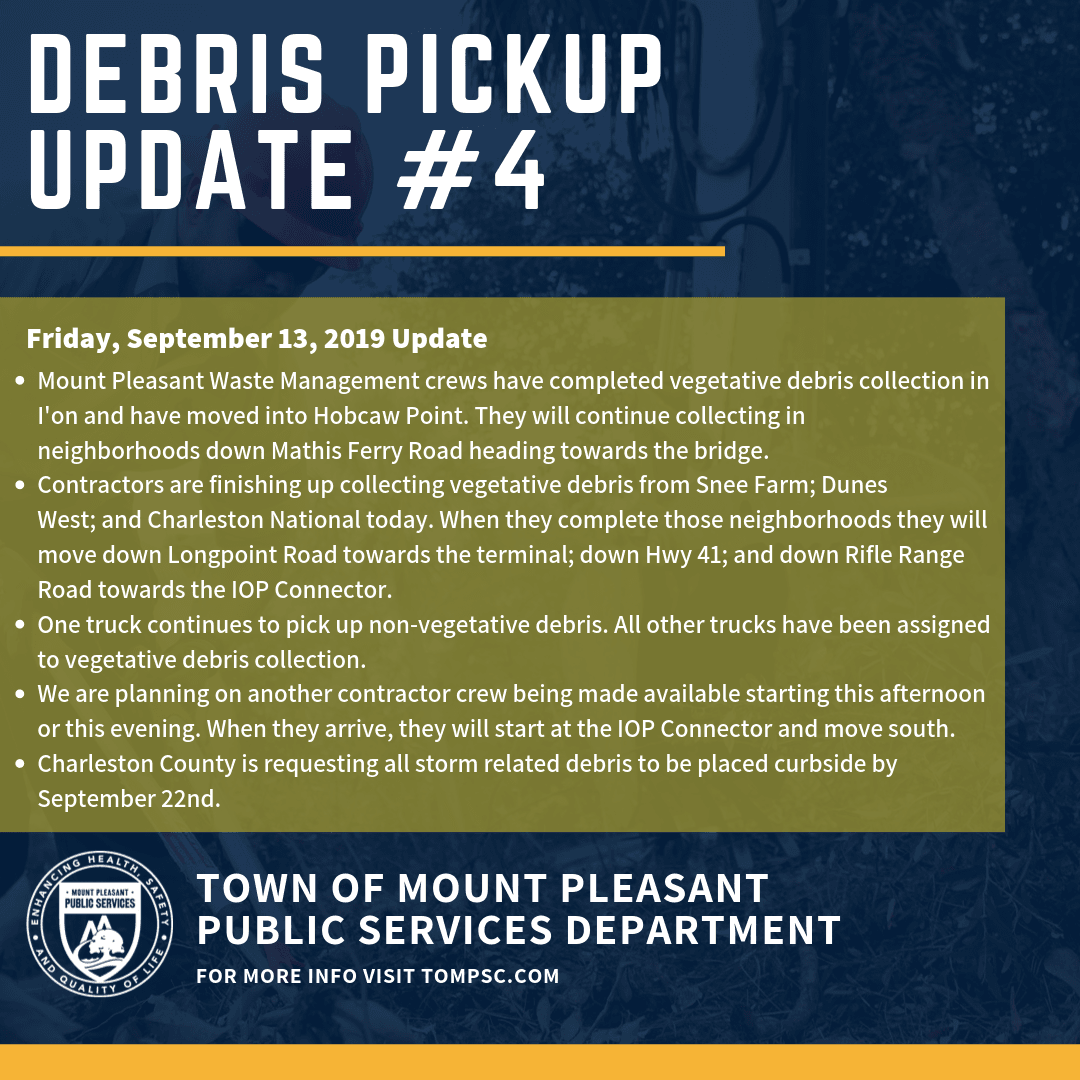 Debris Pickup Update 4