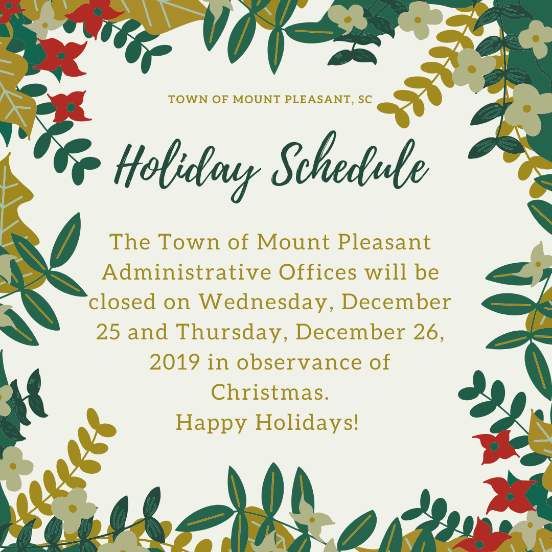TOMP Holiday Schedule 2019 (2)