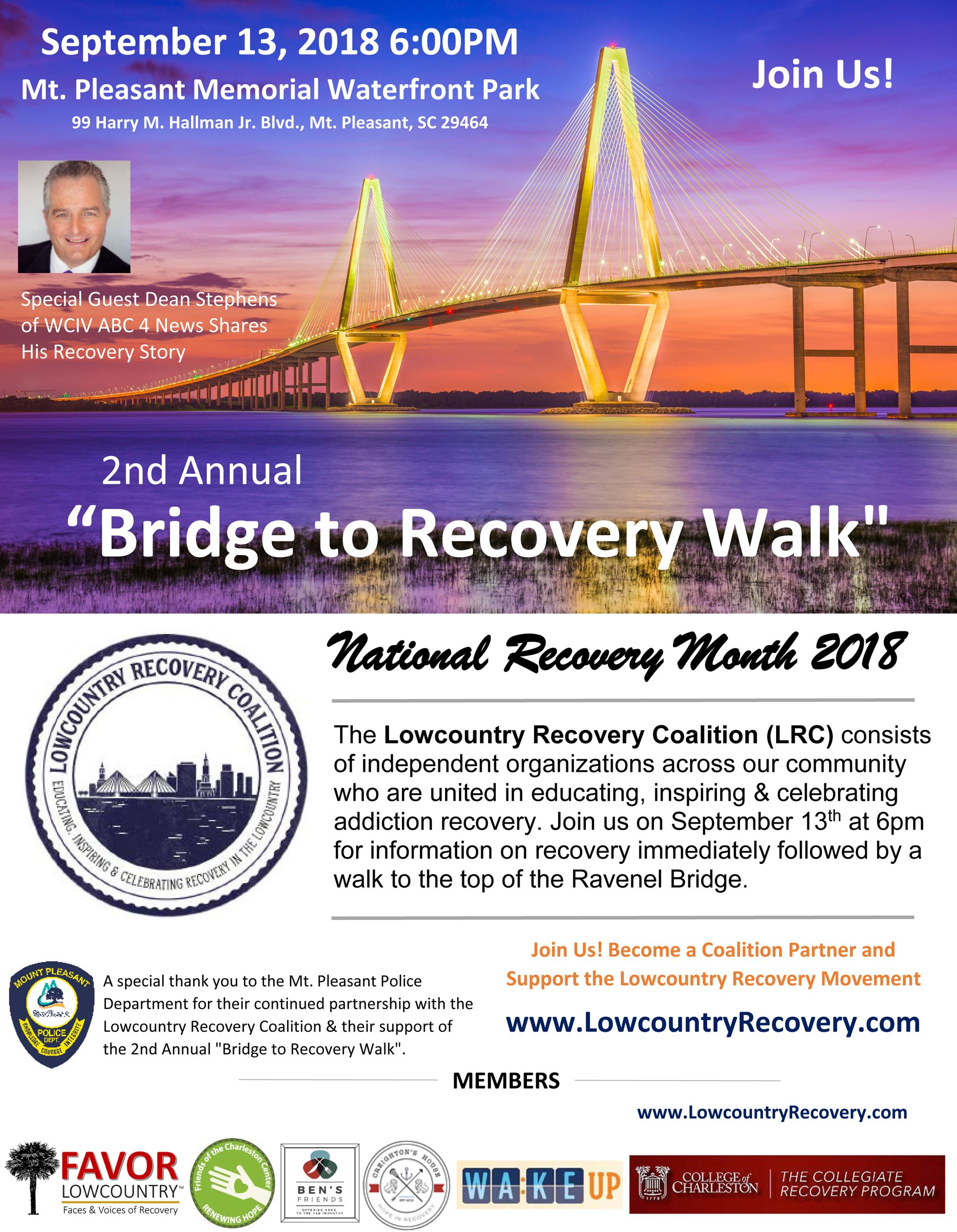2nd Annual Bridge to Recovery Walk 2018
