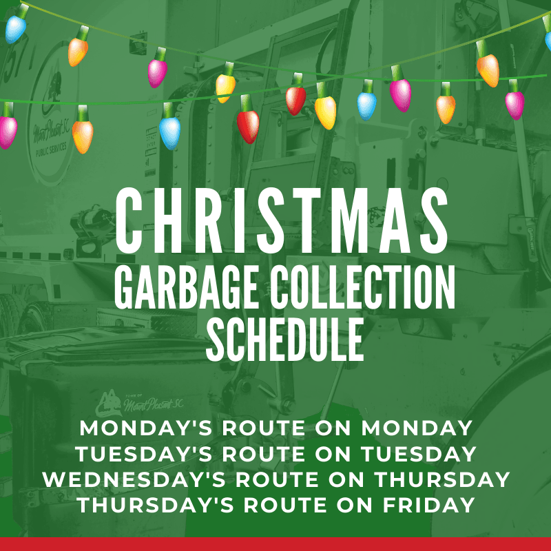 Christmas garbage collection schedule (1)